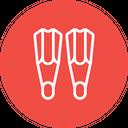 Scuba Dive Fins Icon