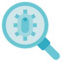 Biology Magnifying Glass Bacteria Icon