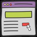 Web Search Search Keyword Web Click Icon