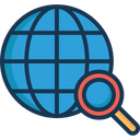 Search Location Find Place Magnifier Icon