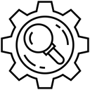 Search Settings Optimization Configuration Icon
