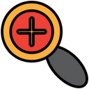 Searching Glass Bussiness Icon