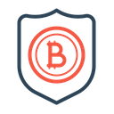 Secure Bitcoin Shield Icon