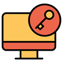 Key Computer Monitor Icon