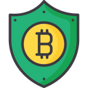 Secure Currency Shield Bitcoin Security Icon
