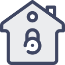 Secure House Locked Icon