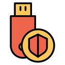 Pendrive Usb Shield Icon