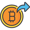 Send Currency Transfer Bitcoin Transfer Crptocurrency Icon