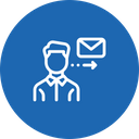 Employee Send Mail Icon