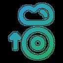 Disc Data Cloud Icon