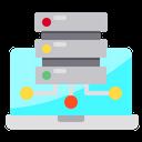 Laptop Data Storage Icon