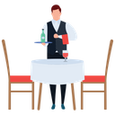 Serving Food Waiter Hot Food Icon
