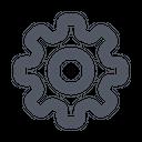 Settings Gear Serrinfs Icon