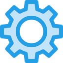 Settings Gear Interface Icon