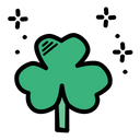 Leaf Luck Saint Patricks Day Icon