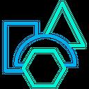 Triangle Rectangle Hexagon Icon