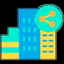 Hotel Sharing Network Sharing Hotel Icon