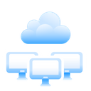 Shared cloud hosting Icon