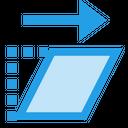 Shear Transform Change Icon