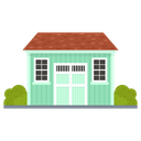 Shed Roofed Structure Outhouse Icon