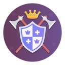 Emblem Shield Ax Icon