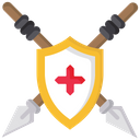 Shield With Spear Spear Shield Icon