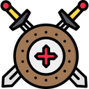 Shield With Sword Icon