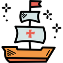 Columbus Day Sail Icon