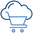 Cloud Storage Shopping Cart Icon