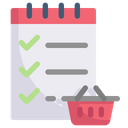 Online Shopping Shopping List Check List Icon
