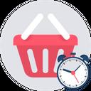 Shopping Time Clock Icon