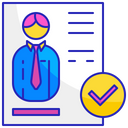 Shortlisted employee Icon