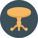 Side Table Wooden Icon