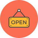 Sign Open Icon