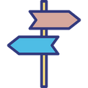 Signpost Post Direction Icon