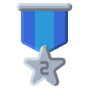 Silver Star Medal Icon