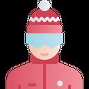 Skier Skiing Man Icon