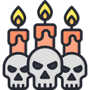 Skull with candle Icon