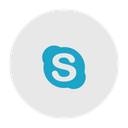 Skype Social Media Communication Icon