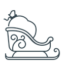 Sledge Sled Sleigh Icon