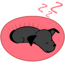 Goodnight Dreaming Dog Icon