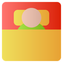 Sleaping Sleep Bed Icon