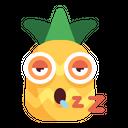 Pineapple Sleepy Emoji Icon