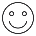Artboard Slightly Smiling Face Smiling Icon