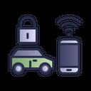Smart Car Electric Car Remote Control Icon