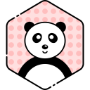 Smile Face Panda Icon