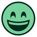 Green Smiling Happy Icon