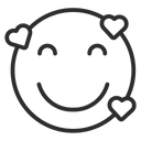 Artboard Copy Smiling Face With Hearts Love Face Icon