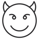 Artboard Copy Smiling Face With Horns Devil Smile Icon