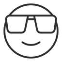 Artboard Copy Smiling Face With Sunglasses Cool Face Icon